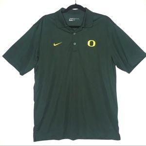 Nike Shirts - Nike Golf Polo Dri Fit Oregon Ducks size large
